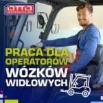 Praca Niemcy operator wózka widłowego bez języka na magazynie wysokiego składu, Waldlaubersheim